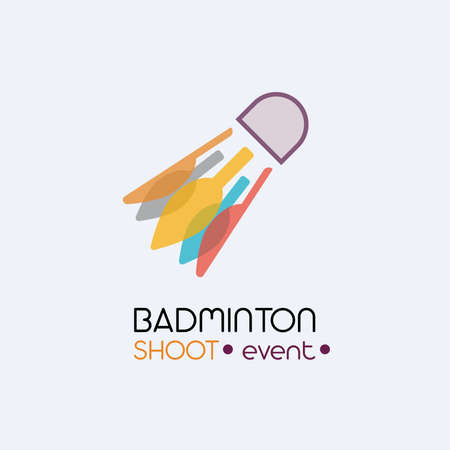 Badminton Shoot Event Sports illustrations in a flat and simple logo style