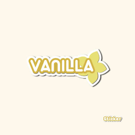 New Vanilla Variant illustrated in cartoon style and stickers Ilustrace
