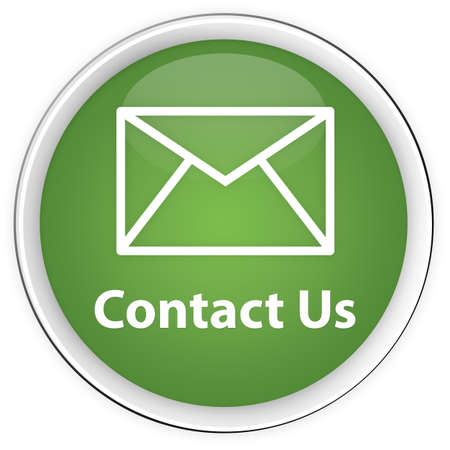 email contact: Contact Us Green button with envelope icon