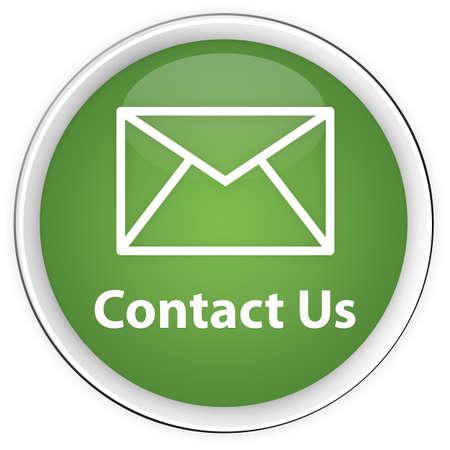 contact info: Contattaci pulsante verde con icona della busta