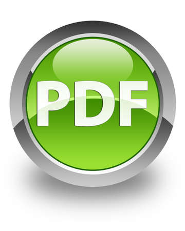 PDF icon on green glossy button photo