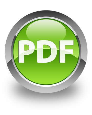 PDF icon on green glossy button photo