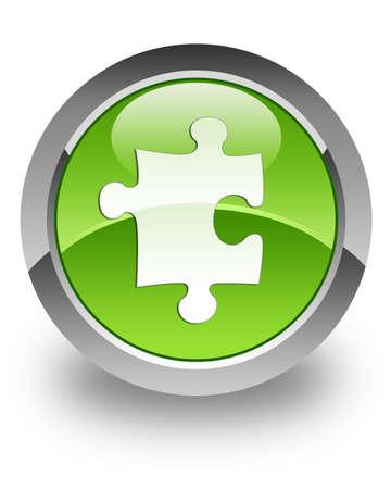 plugin: Plugin   Puzzle icon on green glossy button