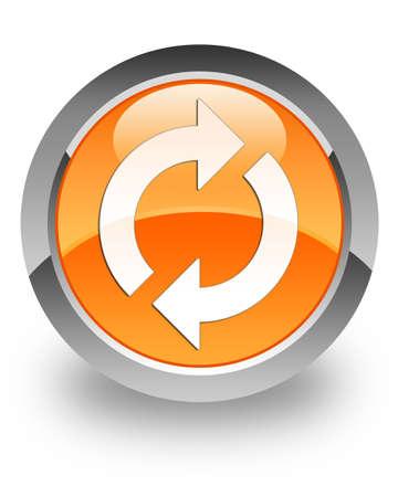 Update icon on glossy orange round button
