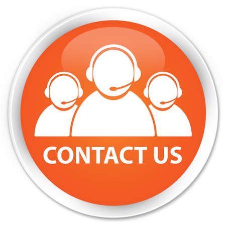 Contact us glossy orange button Stock Photo - 15843413