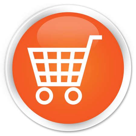 Ecommerce icon glossy orange button Stock Photo - 15843357