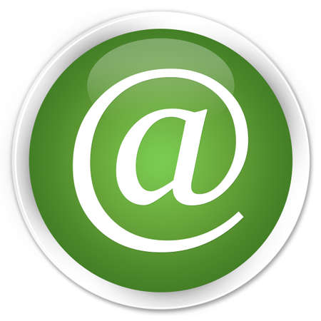 Email address icon glossy green button Stock Photo - 15843389