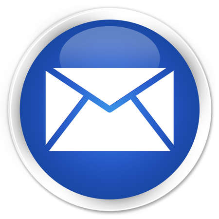 email us: Email icon glossy blue button Stock Photo