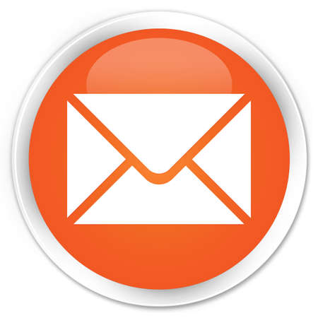 Email icon glossy orange button Stock Photo - 15843342