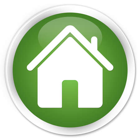 Home icon glossy green button photo