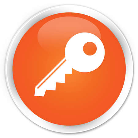 Key icon glossy orange button Stock Photo - 15843338