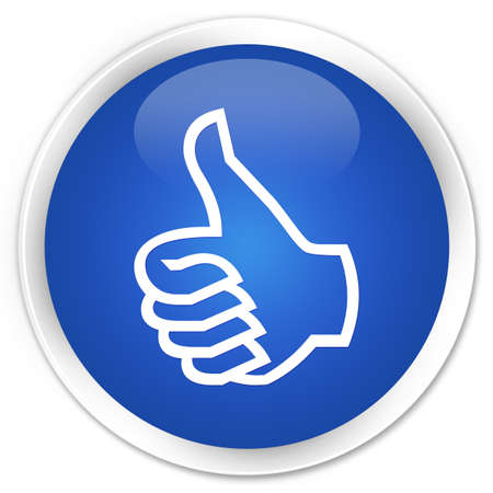 Like icon glossy blue button Stock Photo - 15843411