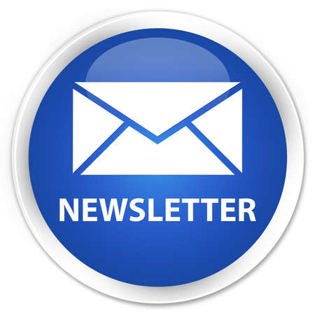 Newsletter glossy blue button photo