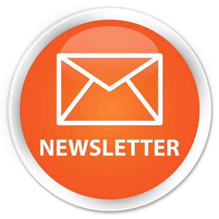 Newsletter glossy orange button Stock Photo - 15843386