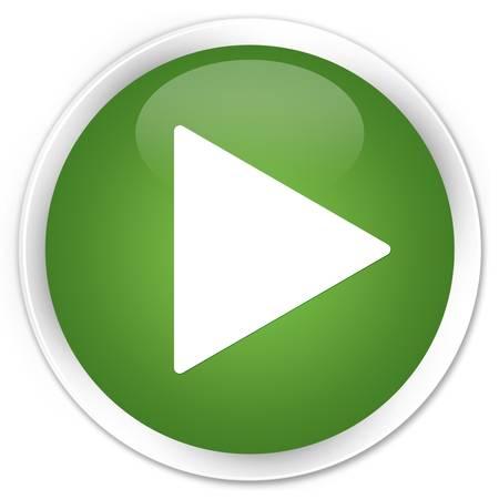 divertirsi: Gioca pulsante verde lucido icona