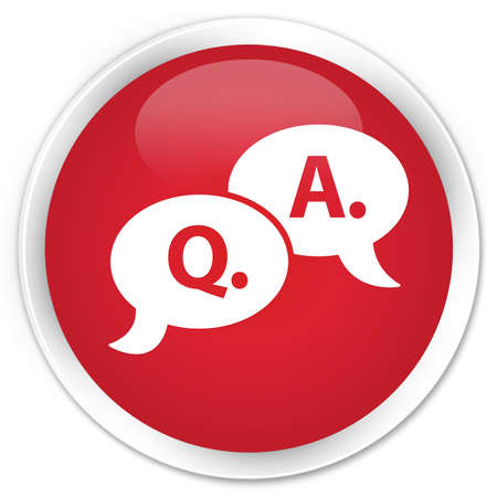Question Answer icon glossy red button Stock Photo - 15843355