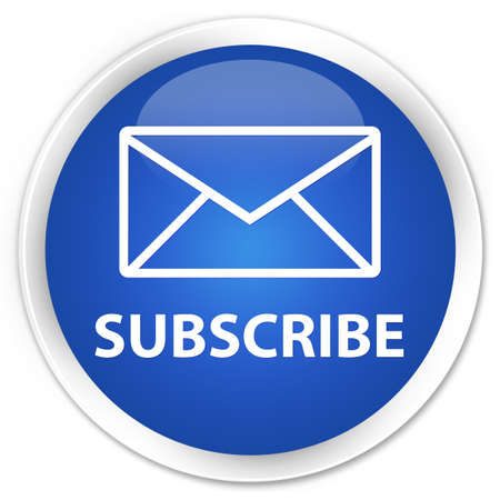 Subscribe glossy blue button photo