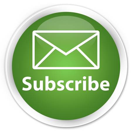 subscribe: Subscribe glossy green button Stock Photo