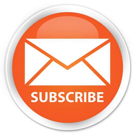 newletter: Iscriviti lucido pulsante arancione
