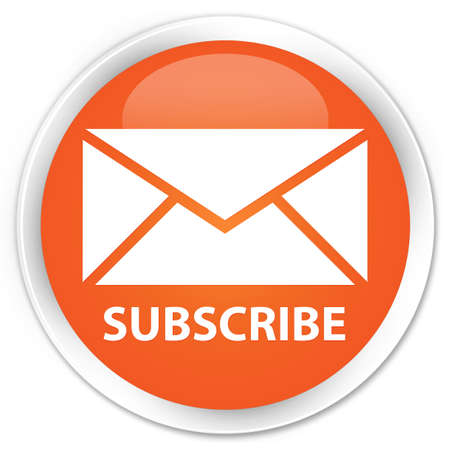 Subscribe glossy orange button photo
