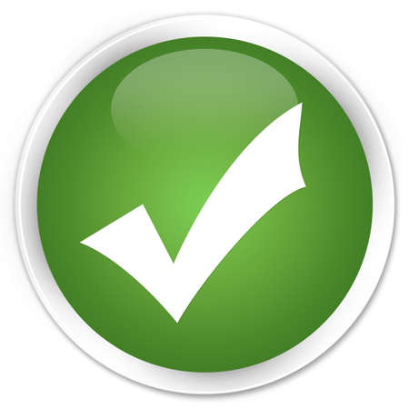 Validate icon glossy green button photo