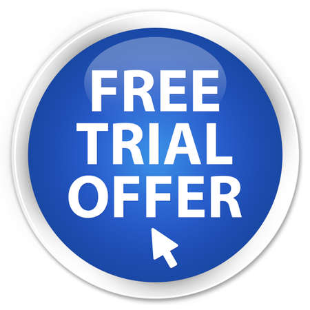 Free Trial Offer glossy blue button photo