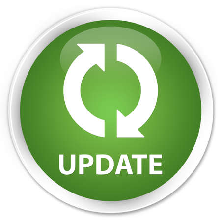 Update glossy green button Stock Photo - 16279009
