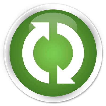 refrescarse: Icon botón verde brillante