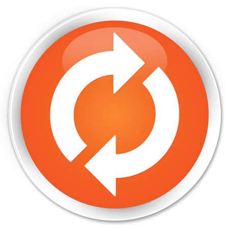 更新アイコン光沢のあるオレンジ色のボタン