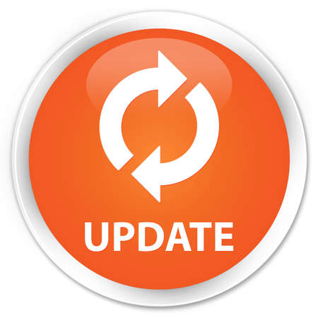 Update glossy orange button Stock Photo - 16278996