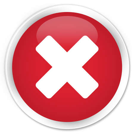 cancellation: Cancellation icon glossy red button