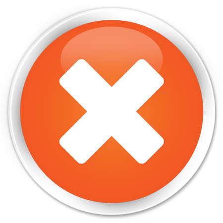 cancellation: Cancellation icon glossy orange button Stock Photo