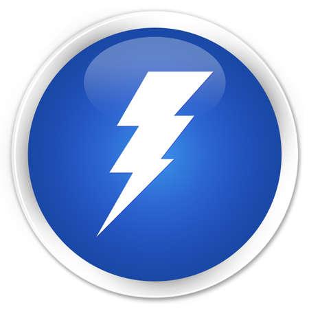 rayo electrico: Electricidad icono azul bot�n brillante