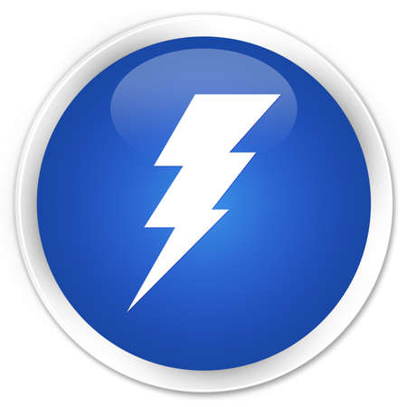 Electricity icon glossy blue button photo