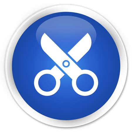 Scissors icon glossy blue button Stock Photo - 16583637