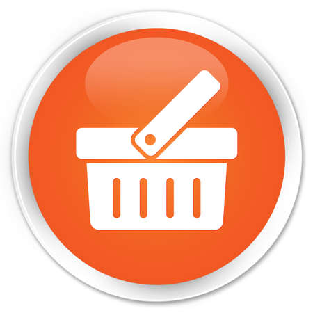 Shop icon glossy orange button photo