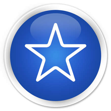 Star icon glossy blue button photo