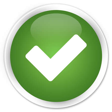 Validation icon glossy green button Stock Photo - 16583626