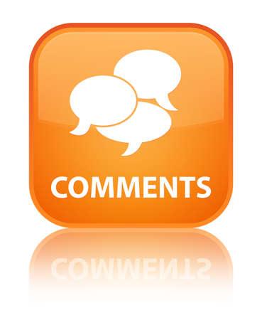 vélemény: Hozzászólások fényes narancssárga tükröződik a négyszögletes gombot