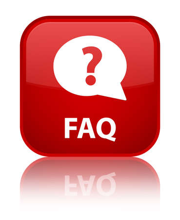 Faq glossy red reflected square button Stock Photo - 16624436