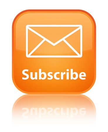 newletter: Iscriviti arancio lucido riflesso tasto quadrato