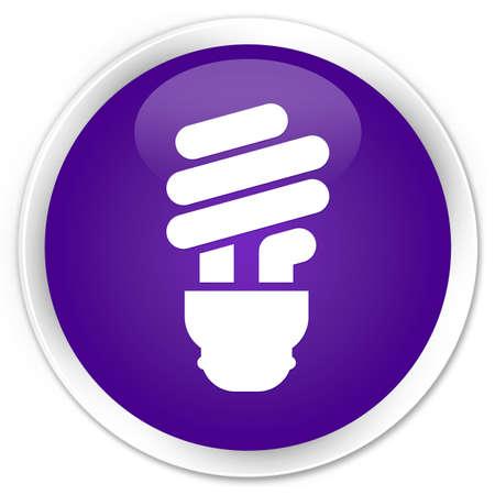 incandescence: Bulb icon glossy purple button Stock Photo