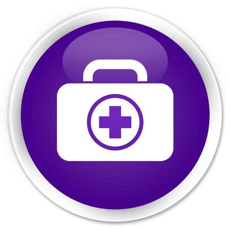 Botiqu�n de primeros auxilios icono brillante bot�n morado photo