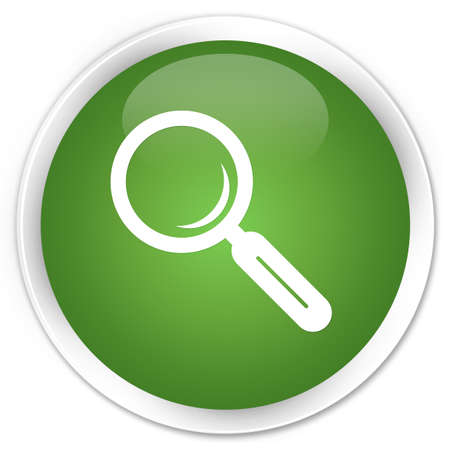Search icon glossy green button photo
