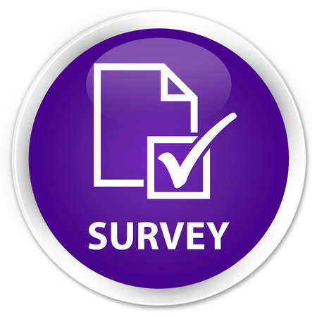Survey glossy purple button photo