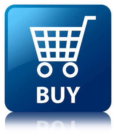 Buy  ecommerce icon  glossy blue reflected square button Stock Photo - 22231000