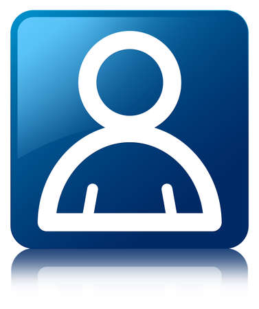 administrators: Member icon glossy blue reflected square button