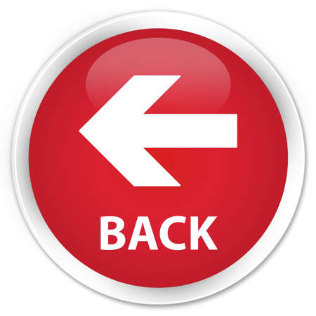 Back Icon Red Back Left Arrow Icon Glossy