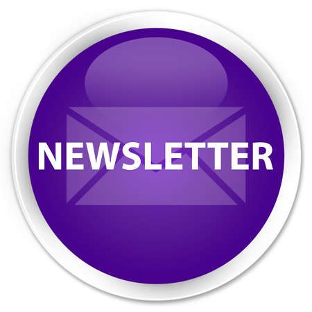 Newsletter  email icon  glossy purple button photo