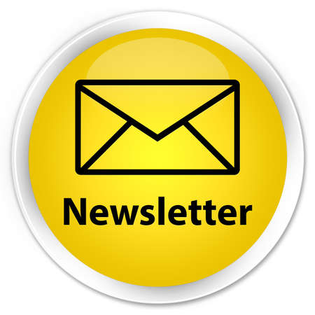 Newsletter  email icon  glossy yellow button photo